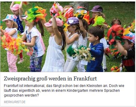 Zweisprachig groß werden in Frankfurt!