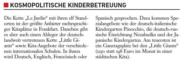 Mehrsprachige Kitas und internationale Schulen boomen in Frankfurt. Dafür braucht es nicht einmal den Brexit.