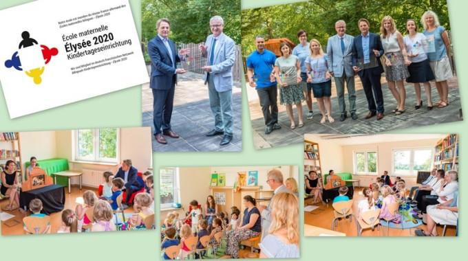"""Le Jardin Einichtungen als erste hessische """"Elysée-Kitas 2020"""" in das Elysee-Kita-Netzwerk aufgenommen!"""
