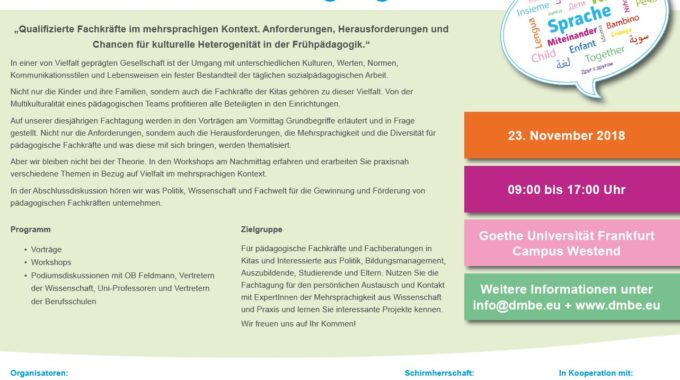 "DMBE Fachtagung 2018 ""SAVE THE DATE"""